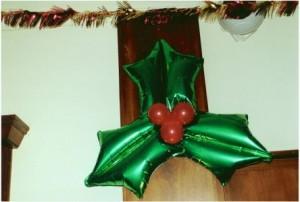 Luftballondekoration Weihnachten