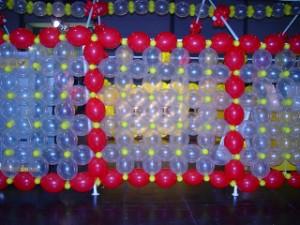 Luftballondeko Wand