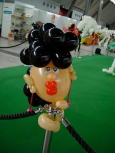 Luftballon Frauenkopf