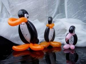 Luftballontier Pinguine