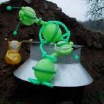 Luftballofigur Alienlandung