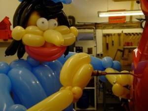 Luftballon Mechaniker bei der Arbeit