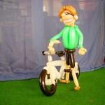 Luftballon Fahrrad mit Fahrer