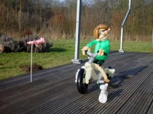Luftballonfigur Fahrradfahrer
