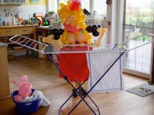 Luftballon Hausfrau