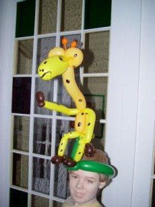 Luftballonfigur Luftballon Giraffe