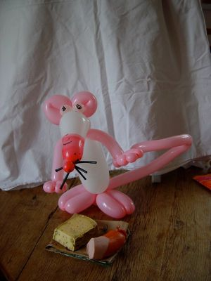 Luftballonkünstler Ahlen Luftballonfigur Luftballon Ratte