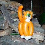 Katze aus Luftballons