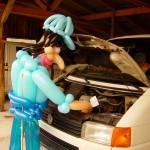 Luftballonfigur Automechaniker