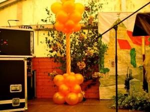 Luftballon Säule in Gold 2,20m hoch