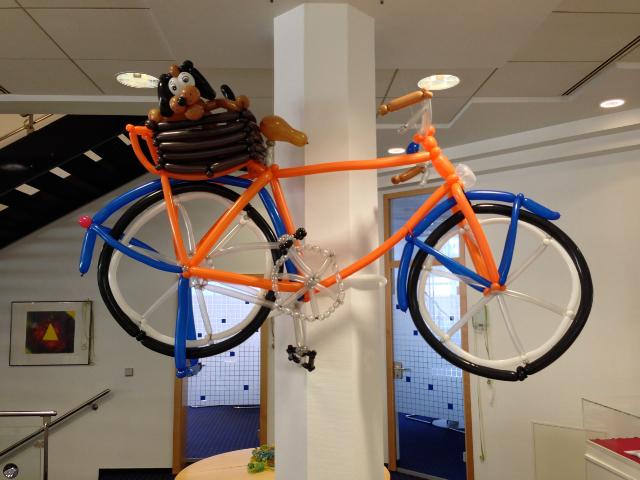Galerie Ballondekorationen Fahrrad für die Fahrt ins Blaue