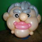 Ein Kopf eines älteren Herrn as Luftballons