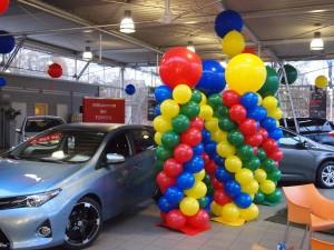 Luftballonkünstler Verden bunte Luftballonsäulen
