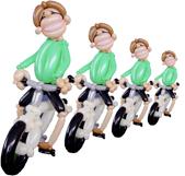 Biker - Ballonfigur