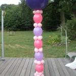 Luftballondekorationen Säule aus Luftballons