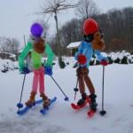 Luftballondekorationen Ballon Skiläufer