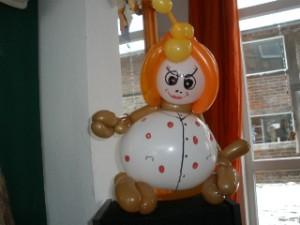 Luftballondekorationen Luftballonpuppe