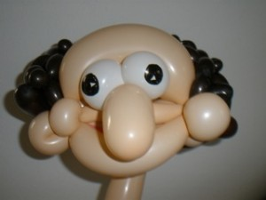 Luftballonkarikatur Luftballonkünstler