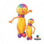 1 1,30m +1 80 cm hohe Körper mit Smily Folienballons in Gelb/Goldenrod