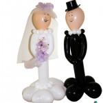 Braut und Bräutigam auf Luftballons ca. 1,60m hoch