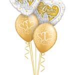 2 Folienherzen Always amd Everaufdruck 3 Latexballons Gold Herzen Aufdruck ca. 1,20 hoch