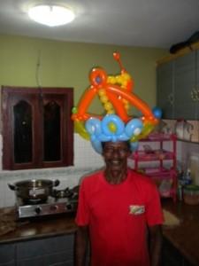 Unser KOCH mit Luftballonkrone