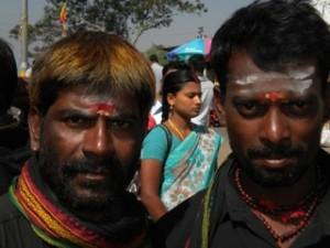Mysore Tempel Gesichter