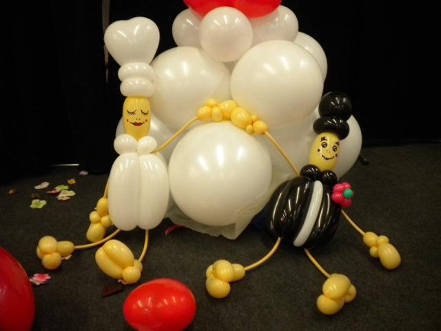 Ballonkünstler Emsdetten Braut und Bräutigam