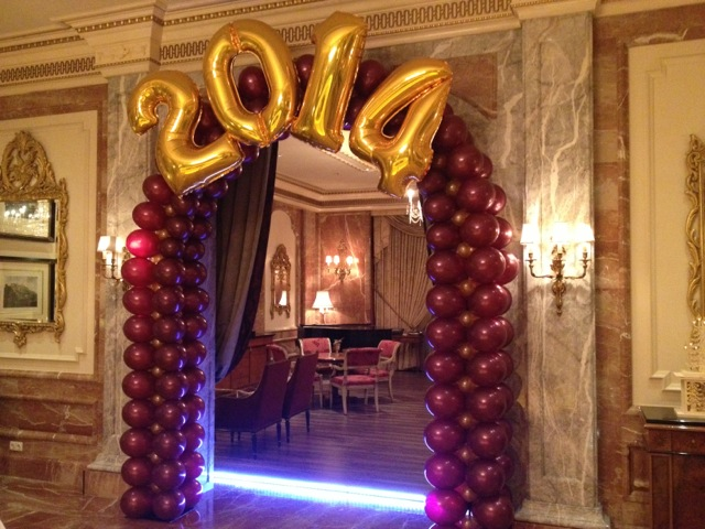 Galerie Ballondekorationen Rundbogen aus Latexballons 2014 aus Folienballons